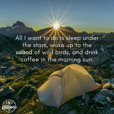 Camping under the stars and waking up to nature. Camping Places, Camping And Hiking, Camping Life, Backpacking, Camping 2017, Truck Camping, Hiking Trails, Camping Gear, Hiking Quotes