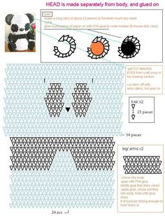 3d Origami Diagram Animals Motor Capacitor Wiring Manual 55 Best 1 Images Modular Panda Gấu Truc Templates Tutorial