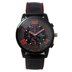 Luxury Men Sport Quartz Watch (red)  #adjustable wrist band #analog display #Luxury #Luxury Men Sport Quartz Watch #Mens Sports Watches #Product Features #quartz #Sport #Watch MonitorWatches.com