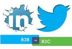 Handig overzicht hoe Twitter en Linkedin te updaten in B2B of B2C [infographic]
