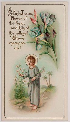 Antique Holy Card Christ Child circa 1900s