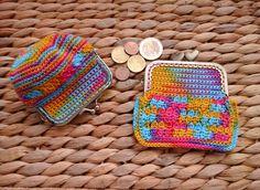 A Cor da Lã: Porta Moedas em crochet... Depois do Eclipse solar...