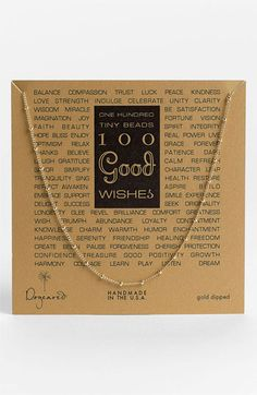 Dogeared '100 Good Wishes' Boxed Necklace available at #Nordstrom