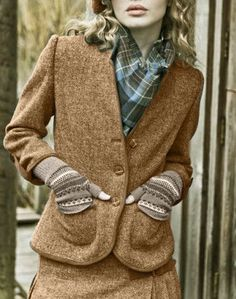 ♔ Harris tweed