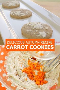 Taste the healthy goodness of Carrot Cookies and start the day off right! It's an easy cookie recipe to make and perfect for the Fall season! Carrot Cookies, Yummy Cookies, Delicious Cookie Recipes, Easy Cookie Recipes, Brown Sugar Carrots, Filipino Desserts, Fall Season, Fall Recipes