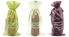 30 Organza Wine Gift Bags - Gold, Ivory and Merlot -- Check out this great image  : Wrapping Ideas