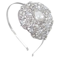 Check out this item in my Etsy shop https://www.etsy.com/ca/listing/259598948/bridal-silver-flower-hair-headband