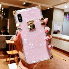 Bling Metal Conch iPhone Case - Pink / For iPhone XS