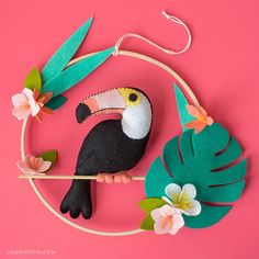 with this fabulous DIY felt toucan wall hanging. It is wonderful for adding a.with this fabulous DIY felt toucan wall hanging. It is wonderful for adding a.Felt animal stuffies so you can create your own crafting companionDiscover recipes, home ideas Felt Owls, Felt Animals, Felt Flowers, Diy Flowers, Yellow Nursery Decor, Felt Crafts Patterns, Doll Patterns, Felt Diy, Felt Ornaments