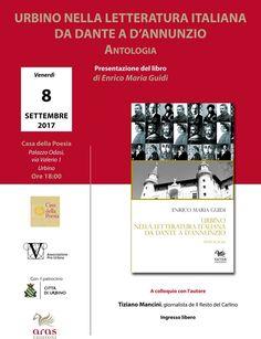 Urbino venerdì 8 settembre presentazione del libro di Enrico Maria Guidi