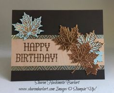 Colorful Seasons Stamp Set and the Seasonal Layers Thinlits Dies- Stampin' Up! Masculine Birthday Cards, Birthday Cards For Men, Handmade Birthday Cards, Masculine Cards, Greeting Cards Handmade, Fall Cards, Christmas Cards, Happpy Birthday, Stampin Up Karten