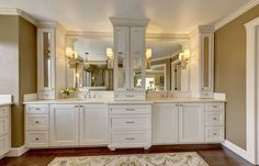 Bathroom cabinets and dual vanity