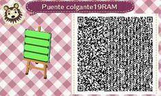 Este es un QR Code para Animal Crossing, creado por mí; como podéis observar, es un puente colgante en color verde lima. [19-19]  Lo podéis encontrar en mi canal de YouTube: https://www.youtube.com/channel/UCh6uwa2CjSgR4WQ-ghRQY6Q (Roxy).  ¡Espero qué os guste! ;)