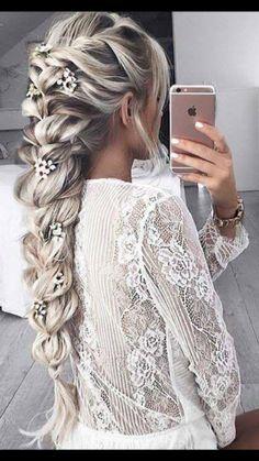 Big braid hair style