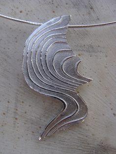 Hanger van zilverklei