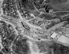 Aerial view of Island Park in Photo courtesy of City of Ottawa archives Click image to enlarge. University Of Ottawa, Island Park, Aerial View, Ontario, Past, City Photo, Canada, History, Image