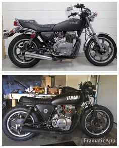 81 xs400 cafe project. all redone: exhaust, headlight, front turns