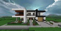 minecraft deafult modern house ideas - Sök på Google