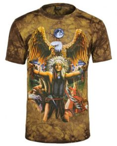 Tie-Dye Military Compression Sports Indian Coffee Print Shirt T-Shirt Tie Dye T Shirts, Tee Shirts, Indian Coffee, Tie Dye Crafts, Wolf T Shirt, Cool Hoodies, Printed Shirts, Mens Tops, Eagles