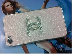 Baby Pink Bling case with Bling CC Chanel for iPhone by AlexET, $13.00