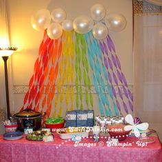 Swift Thinkin': Table Setup for a My Little Pony Party