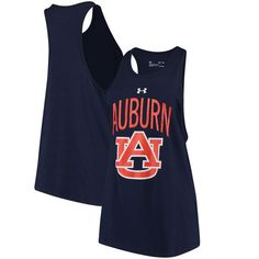 Auburn Tigers Under Armour Women's Charged Cotton Ventilated Tank Top - Navy