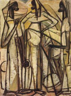 Floris Jespers Belgian), Trois femmes africaines (Three African women), Oil on canvas, x cm. African Women, Congo, Oil On Canvas, Past, Auction, Paintings, Paint, Past Tense, Painted Canvas