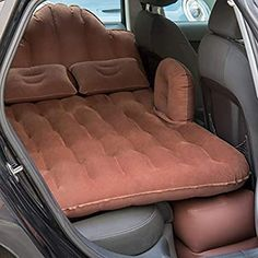 NEX Car Inflatable Mattress Camping Air Bed Car Mobile Cushion Inflation Back Seat Extended Couch with Motor Pump,Two Pillows for Sleep Rest and Travel Inflatable Car Bed, Cute Car Accessories, Yamaha Golf Cart Accessories, Jeep Wrangler Accessories, Car Gadgets, Air Mattress, Car Hacks, Cool Inventions, Cute Cars