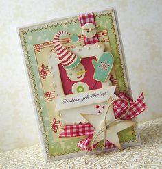 Christmas cards using Cosmo Cricket's Jolly by  Golly line ( I LOVE CC!!)
