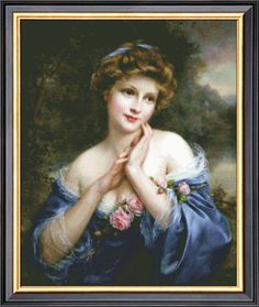 A Summer Rose By Francois MartinKavel Counted Cross Stitch Pattern PDF