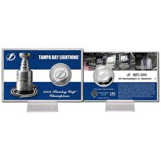 Tampa Bay Lightning Stanley Cup inHistoryin Silver Coin Card