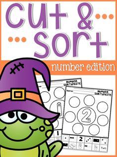 Free Number Cut & Glue Sheets