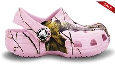 Love these Pink Camo Crocs on sale for $6.99! Save up to 60% on the End of Season Crocs Sale