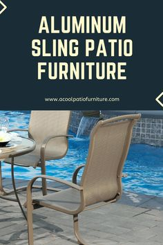 Aluminum Sling Patio Furniture-Comfortable Seating for Outdoor Settings Aluminum sling terrace {furniture Outdoor Chairs, Outdoor Furniture, Outdoor Decor, Aluminum Patio, Outdoor Settings, Terrace, Porch, Deck, Home Decor