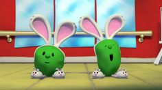 EASTER or FARM ANIMALS VeggieTales: The Hopperena - Silly Song