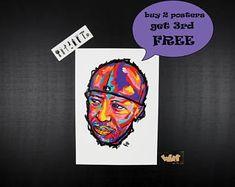 Dj Premier hip hop poster, Unique gift for dj, Perfect gift for hip hop lovers, Gang starr, Guru, Hip hop art, hip hop artist, rap posters