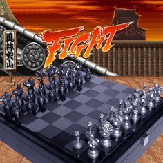 With the Steet Fighter chess set you can worship the memories of your favorite video game characters together with the world's oldest and most intelligent pass time. Ryu and M. Bison, good vs. evil are the opposing teams kings. Fight!