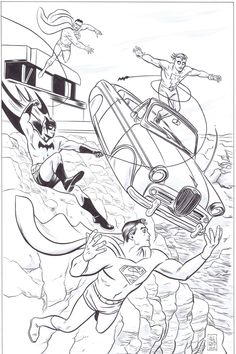 MIKE ALLRED IS GENIUS WITH CHARACTER MOVEMENT! World's Finest & Madman versus Bizarro by Michael Allred