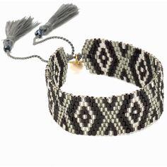 Bijoux By Us Aztec Bracelet (32 NZD) ❤ liked on Polyvore featuring jewelry, bracelets, accessories, silver, womens-fashion, silver bead bracelet, tassel jewelry, adjustable bracelet, bead bracelet and beading jewelry