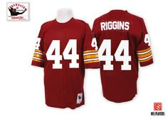 Mitchell and Ness Washington Redskins #44 John Riggins Burgundy Red Team Color Authentic Throwback NFL Jersey Sale