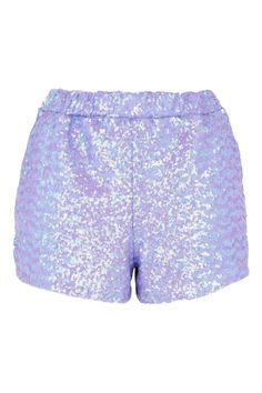 **Lilac Sequin Shorts Co-ord by Jaded London