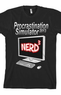 Hello Prrrrrocrastinators!!!! Oh how I'm tempted to buy this shirt!!!! Love Nerdcubed!
