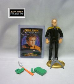 1993 Playmates Star Trek Deep Space Nine - Miles O'Brien Loose & Complete Figure #PlaymatesToys