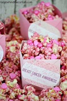 Pretty in Pink Breast Cancer Awareness Popcorn FoodBlogs.com