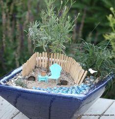Coastal Decor   Beach Decor   Nautical Decor   Seashell Decor: Miniature Gardens with a Beach Theme in Pots and Baskets