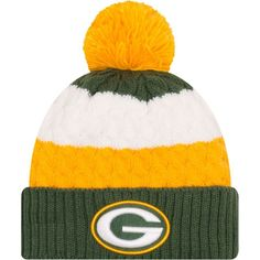 fabccb8140e New Era Women s Green Bay Packers Layered Up Pom-Top Knit Hat