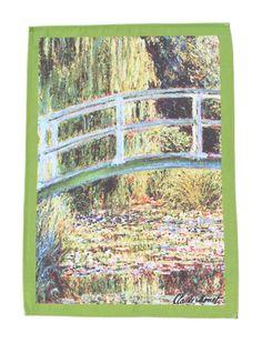 "Monet ""Bridge over a Pond of Water Lilies"" Dishtowel"