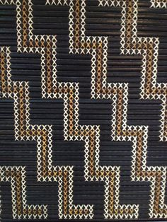Tukutuku Panel, Paruaharanui marae, Mourea Maori Designs, Polynesian Designs, Flax Weaving, Weaving Art, Weaving Patterns, Maori Patterns, International Craft, Alphabet Charts, Pattern And Decoration