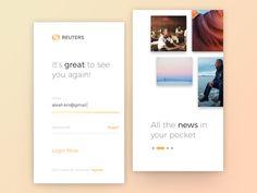 Reuters News App Exploration by Dimas Wibowo #Design Popular #Dribbble #shots