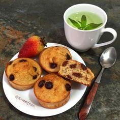 Muffins de avena y pl�tano. http://sweetfran.com/content/post/muffins-de-avena-y-platano
